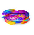 white background with colorful abstract brush vector image vector image