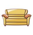 yellow sofa icon cartoon style vector image