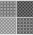 seamless checked crisscross patterns set vector image