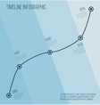 Flat blue diagonal timeline infographic vector image