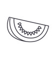 melon line icon sign on vector image