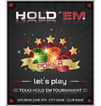 Poker tournament dark background with poker chips vector image