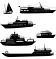 ships and boats silhouettes vector image