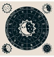 zodiac with the sun vector image