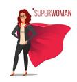 superhero businesswoman and businessman character vector image