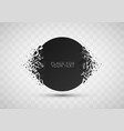 abstract explosion of black glass vector image vector image