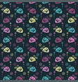 beetle colorful pattern background with pastel vector image