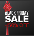 black friday sale banner big super sale vector image