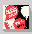 black friday sale banner with spray paint vector image vector image