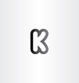black letter k logotype icon vector image