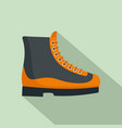 boots icon flat style vector image vector image