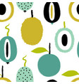 brush grunge exotic fruits seamless pattern vector image vector image