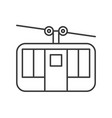 cable car icon amusement park related line style vector image vector image
