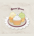 cake cafe menu background bakery label sweet vector image vector image