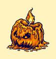 candle head halloween pumpkin vector image vector image