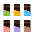 chocolate bar realistic set packaging mock up vector image