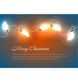 christmas background with chain lights vector image