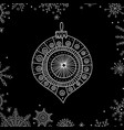 christmas tree decoration bauble line art vector image vector image