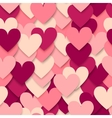 Colorful hearts seamless pattern vector image vector image