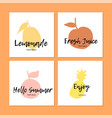 colorful organic fruits vector image vector image