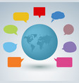 Communication concept with colorful speaking bubbl