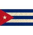 Cuba paper flag vector image vector image