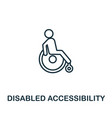 disabled accessibility outline icon thin style vector image vector image