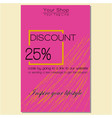 discount card pink vector image vector image