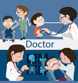 doctors and staff vector image vector image
