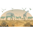 double exposure wild animals for your design vector image