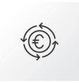 euro exchange icon symbol premium quality vector image vector image