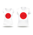 Flag shirt design of Japan vector image