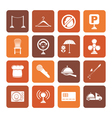 Flat restaurant cafe bar and night club icons vector image