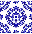 floral decorative tile pattern vector image vector image
