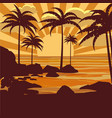 floral tropical background with palm trees vector image
