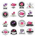Flower shop icons vector image vector image