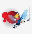 Funny fly cartoon character