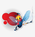 Funny fly cartoon character vector image