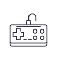gamepad line icon sign on vector image vector image