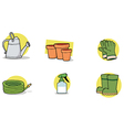 Gardening tools cartoon vector image vector image