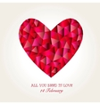 Geometric Mosaic Heart for Valentines Day vector image vector image