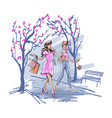 girlfriends spending time together outdoors vector image vector image