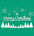 green christmas day paper postcard snowflake star vector image