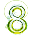Green number 8 vector image