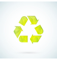 Green recycling symbol geometric icon vector image