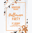 halloween party poster with treats vector image vector image
