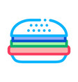 hamburger food icon outline vector image