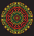 hand drawn mandala art vector image