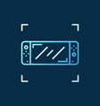 handheld game console concept outline vector image vector image