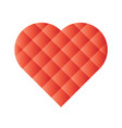 heart mosaic of square tiles with red gradients vector image